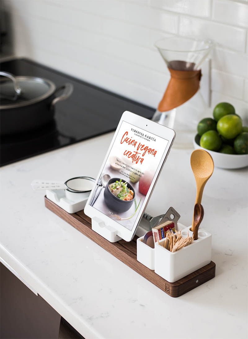 Libro Cocina Vegana Creativa versión eBook en la cocina